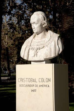 descubridor: Busto de Crist�bal Col�n, Santiago de Chile,