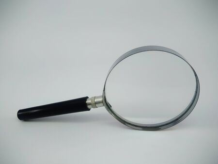 Isolated of Magnifier glass on white background and clipping path.-Image.