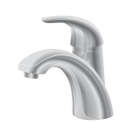 bathroom faucet: illustration of Metal Bathroom Faucet Illustration