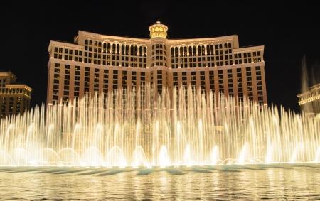 bellagio: Las Vegas, Nevada - January 3, 2013: The fountain at the Bellagio Hotel in Las Vegas