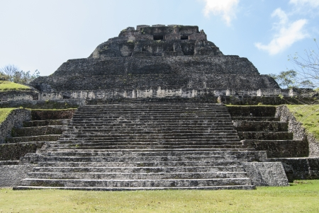 tourism in belize: El Castillo at Xunantunich Mayan Ruins in Belize