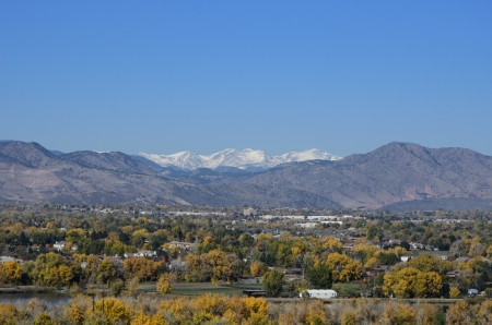 mile high city: Fall view of the Mile High City