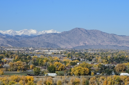 mile high city: Fall view of Denver
