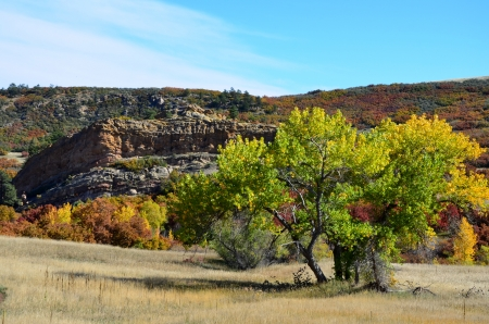 Fall view of Roxborough State Park,  Colorado