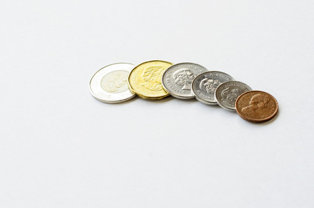 Canadian Coins Stock Photo - 26202708