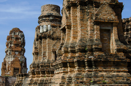 Ruins at Wat Phra mahathat in Ayutthaya, Thailand photo