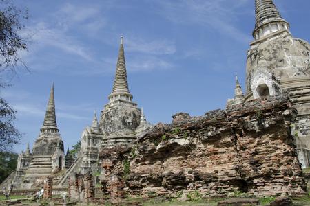Ancient pagoda at Wat Phra Si Sanphet in Ayutthaya, Thailand photo