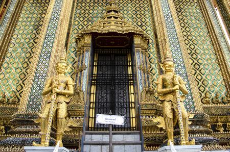 phra si rattana chedi: The Statues of guardians at Grand Palace in Bangkok, Thailand