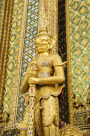phra si rattana chedi: The Statue of guardian at Grand Palace in Bangkok, Thailand