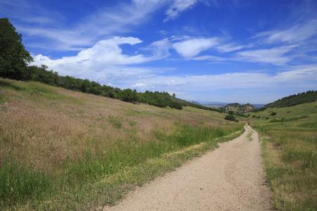 Hiking Trail In Roxborough State Park In Colorado, USA photo
