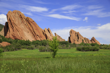 Sandstone formation in Roxborough State Park in Colorado, USA Stock Photo