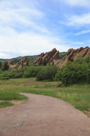 Sandstone formation in Roxborough State Park in Colorado, USA photo
