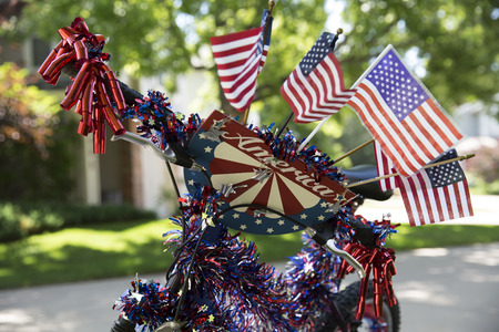 Bike decorated for July 4th parade