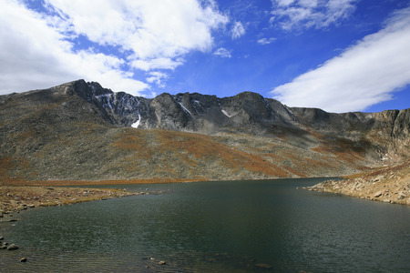 mount evans: Summit Lake on Mount Evans