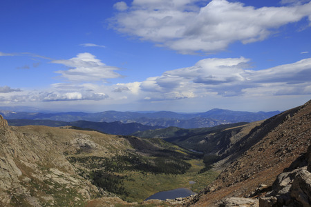 mount evans: Mount Evans in Colorado Stock Photo