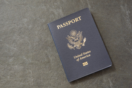 US Passport Stock Photo