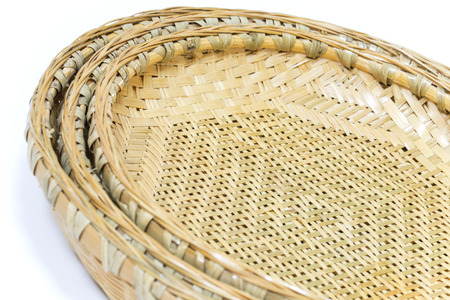 japones bambu: Japanese bamboo baskets in three different sizes
