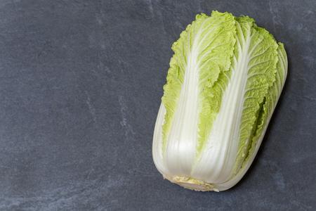 nappa: Napa cabbage on slate background