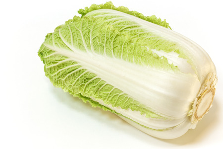 Napa cabbage on white background