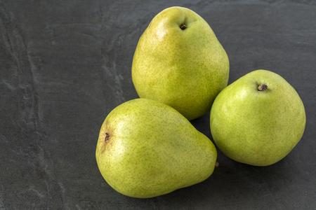 anjou: Anjou Pears on the slate background