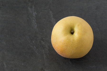 asian pear: Single Asian Pear on the slate background