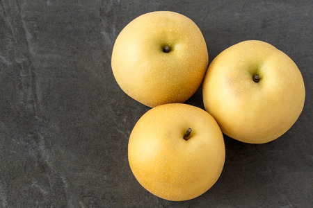 Asian Pears on the slate background