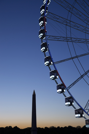 Ferris Wheel in Place de la Concord in Paris, France