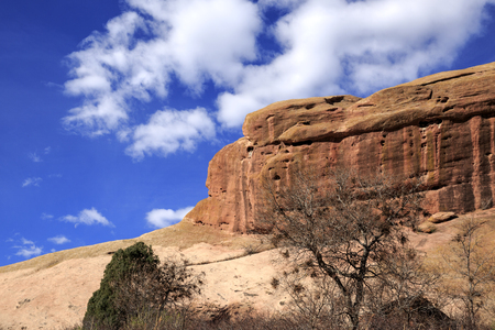Rock Formation at Red Rocks Park in Denver, Colorado