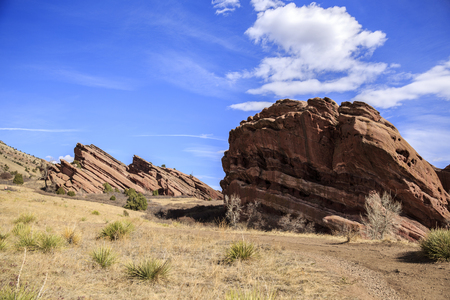 morrison: Hiking Trail at Red Rocks Park in Denver, Colorado Stock Photo