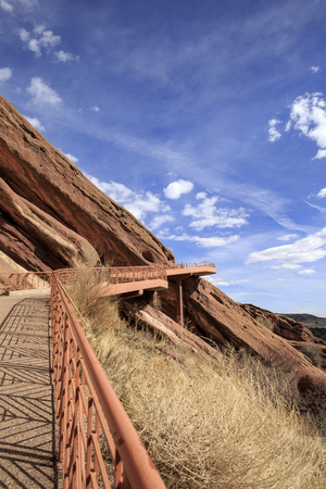 Walkway to Red Rocks Park and Amphitheater in Denver, Colorado