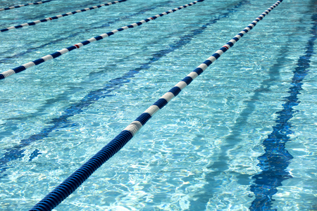 Swimming pool for the meet Stock Photo - 105233187