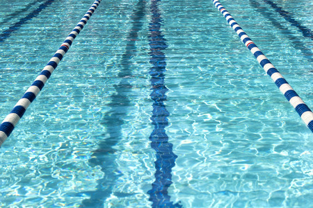 Swimming pool for the meet Stock Photo - 105233190