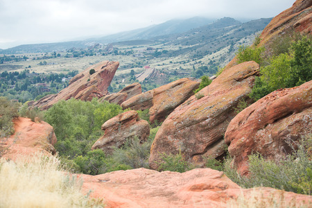 Hiking Trail at Red Rocks Park in Morrison, Colorado