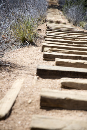 The steps of Manitou Incline Stock Photo - 112530217