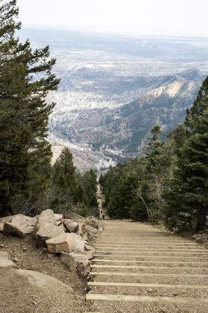 The view from the top of Manitou Incline Stock Photo - 112530221