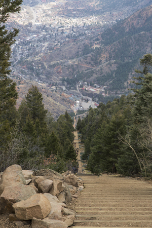 The view from the top of Manitou Incline