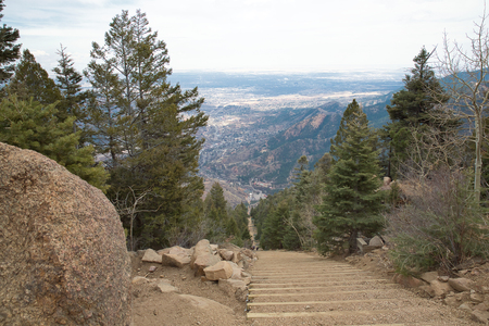 The view from the top of Manitou Incline Stock Photo - 112530224