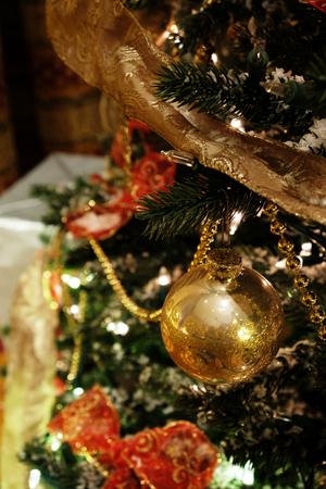 Closeup of the Christmas tree ornament
