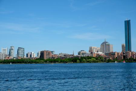 Boston Skyline in the summer