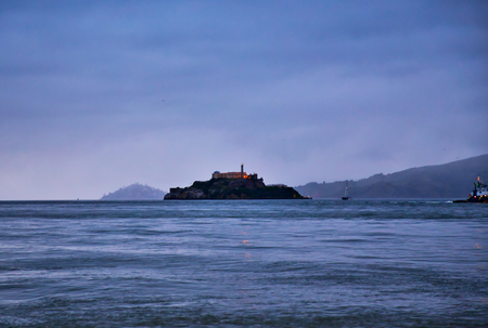 The view of the Alcatraz Island from The Fishermans Wharf