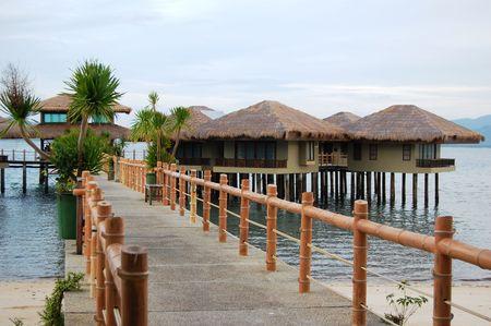 ドス パルマス リゾート、Arreceffi、パラワン、フィリピン 写真素材