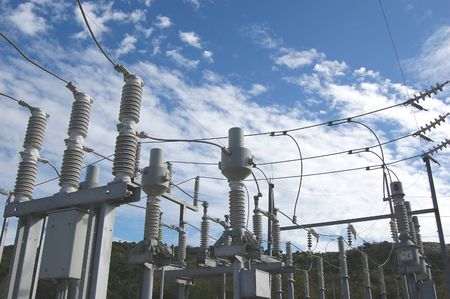 high voltage electrical switch yard