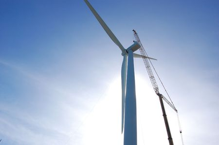 proven: crane at the top of a nacelle of a wind turbine