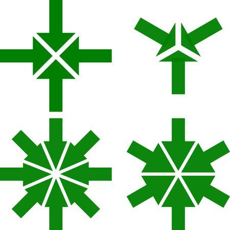 arrow to center