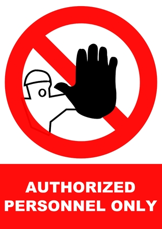 authorized personnel only Vector