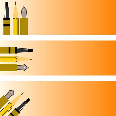 banner pens Vector