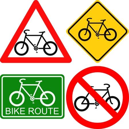 path pathway: bike signs