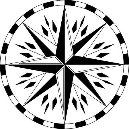 vector ethnic compass Vector