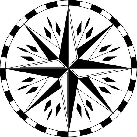 vector ethnic compass