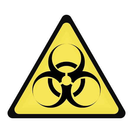 warning triangle: biohazard sign Illustration